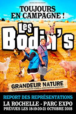 Les Bodin's à La Rochelle : report des représentations